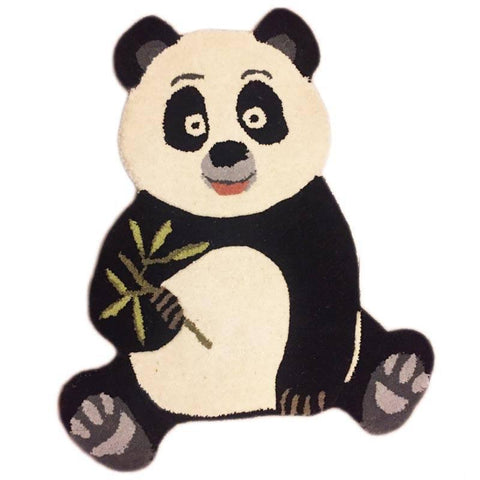 Handcrafted Panda Shaped Rug - bigsmall.in