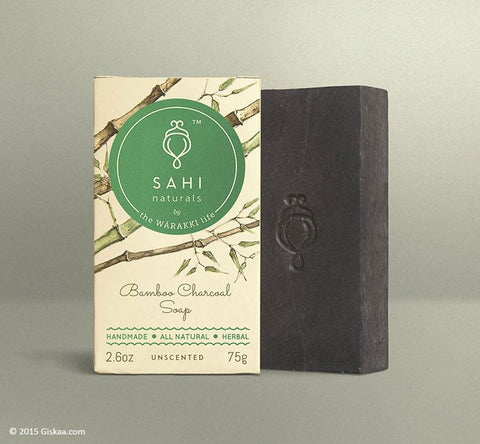Handmade Bamboo - Charcoal Scrub Soap (Oily Skin) - Pack Of 4 (4 X 70 G)