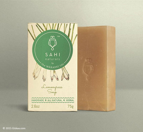 Handmade Lemongrass-soap (Dry, Normal, Oily Skin) By Sahi Naturals - Pack Of 4 (4 X 75 G)
