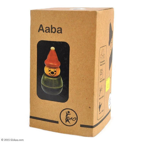 Aaba (Yellow) - Wooden Stacking Toy by Maya Organic