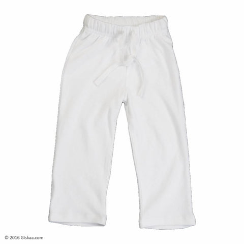 100% Organic Cotton Kids Pyjama (White)