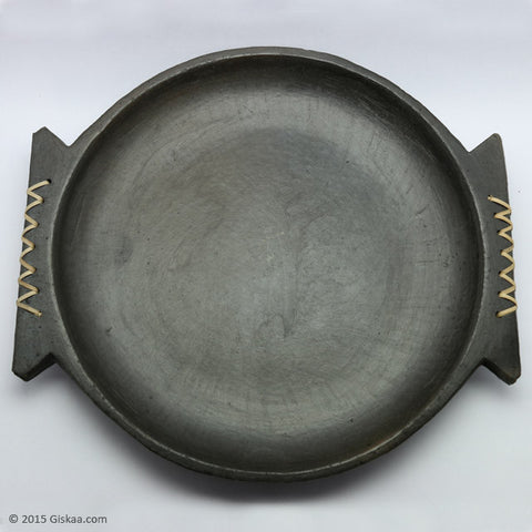 Designer Oval Shape Serving Tray - Longpi Black Pottery