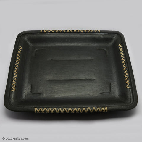 Rectangular Shape Serving Tray - Longpi Black Pottery