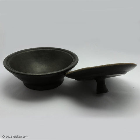 Bowl with Lid - Longpi Black Pottery