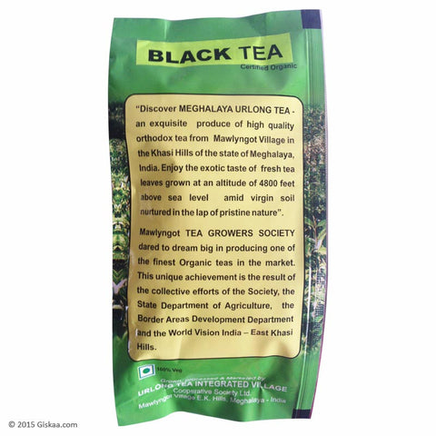 Urlong  Certified Organic Black Tea -100 g