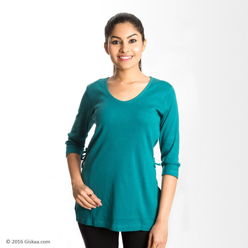 100% Organic Cotton Nursing Tops (Green)