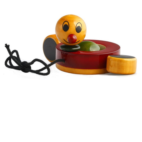 Duby Duck - Handcrafted Wooden paddling pull toy