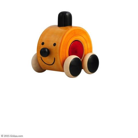 Moee (Red Bead) - Handcrafted Wooden Push Toy