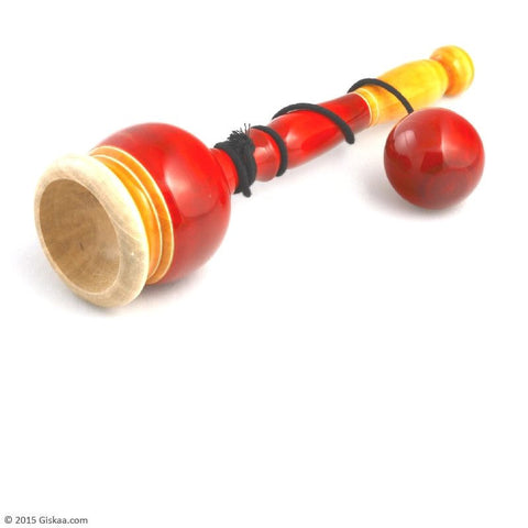 Cup and  Ball - Big (Red) - Handcrafted Wooden Toy