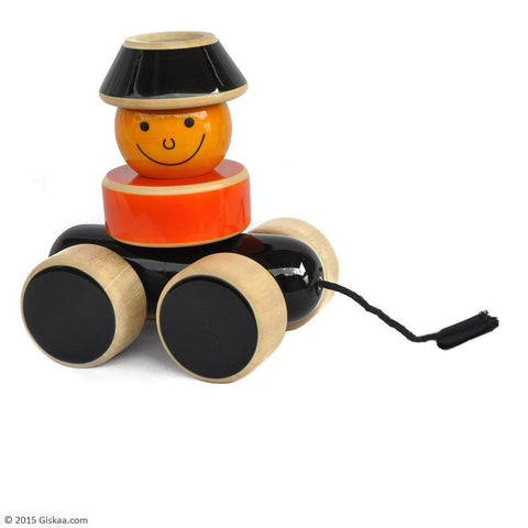 Go Go - Handcrafted Wooden Stacker and Pull Toy