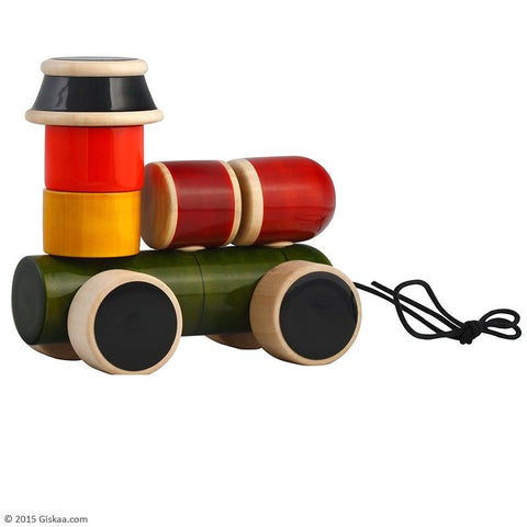 Engine - Handcrafted Wooden Stacker and Pull Toy