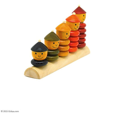 Peppy Five - Handcrafted Wooden Toy