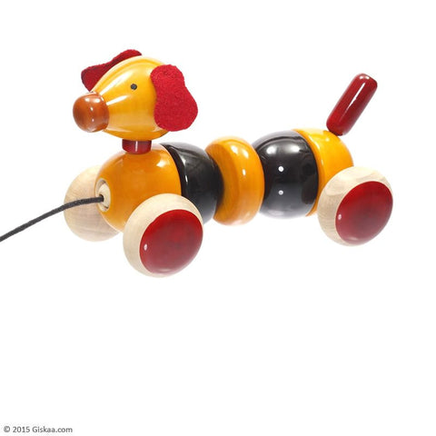 Bovow - Handcrafted Wooden Pull Toy