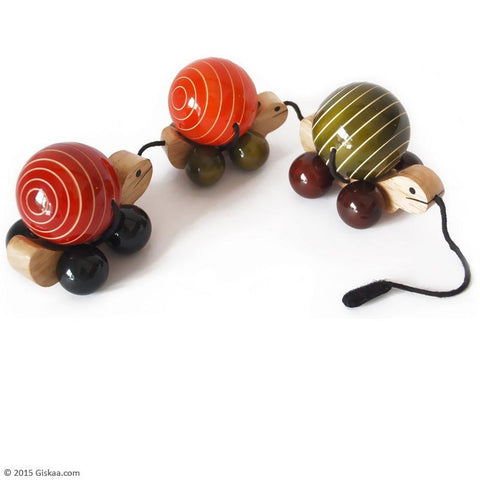 Ma me pa - Handcrafted Wooden Pull Toy