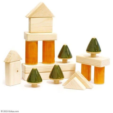 Baby Building Blocks - Handcrafted Wooden Toy