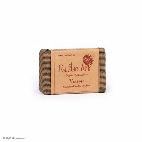 Rustic Art Organic Vetiver Soap - 100g