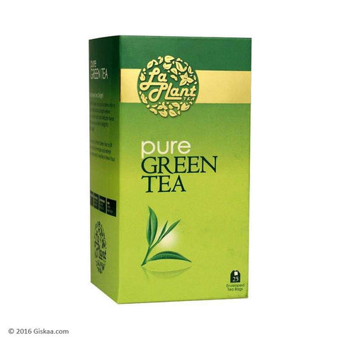 LaPlant Pure Green Tea - 25 Tea Bags (Pack of 2)