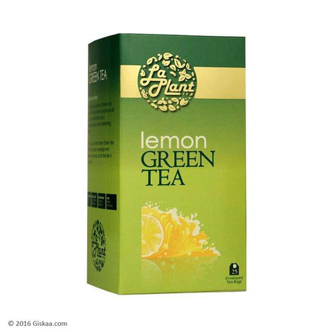 LaPlant Lemon Green Tea - 25 Tea Bags (Pack of 2)