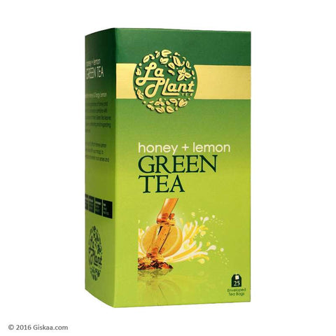 LaPlant Honey & Lemon Green Tea - 25 Tea Bags  (Pack of 2)