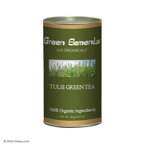 Green Elements - Organic Tulsi Green Tea, Long Leaf - 100 g