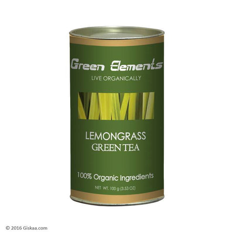 Green Elements - Organic Lemongrass Green Tea - 100 g