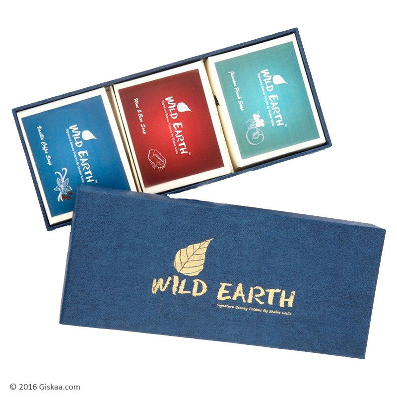 Wild Earth Natural Handmade Soaps Gift Set - 100 g +100 g + 100 g