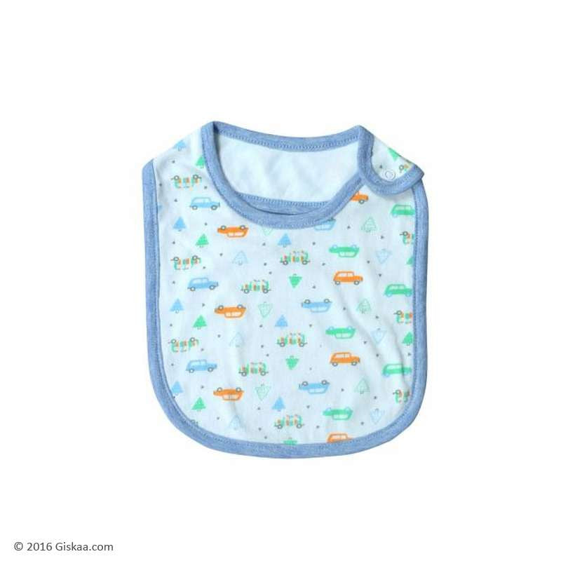Berrytree Baby Bib Cars and Trees - Organic (Set of 2)