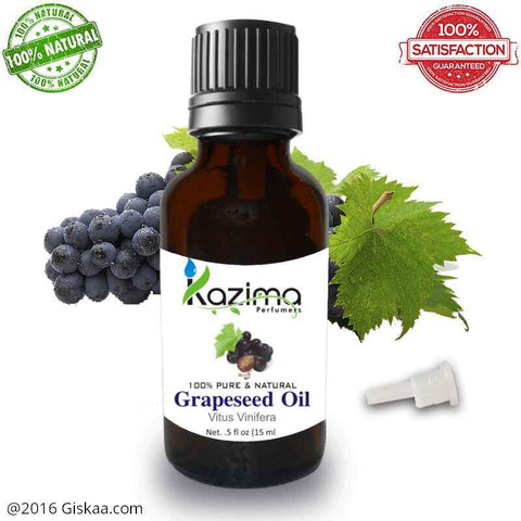 Kazima Grapeseed Essential Oil- 100% Pure Natural And Undiluted Oil- 15ml