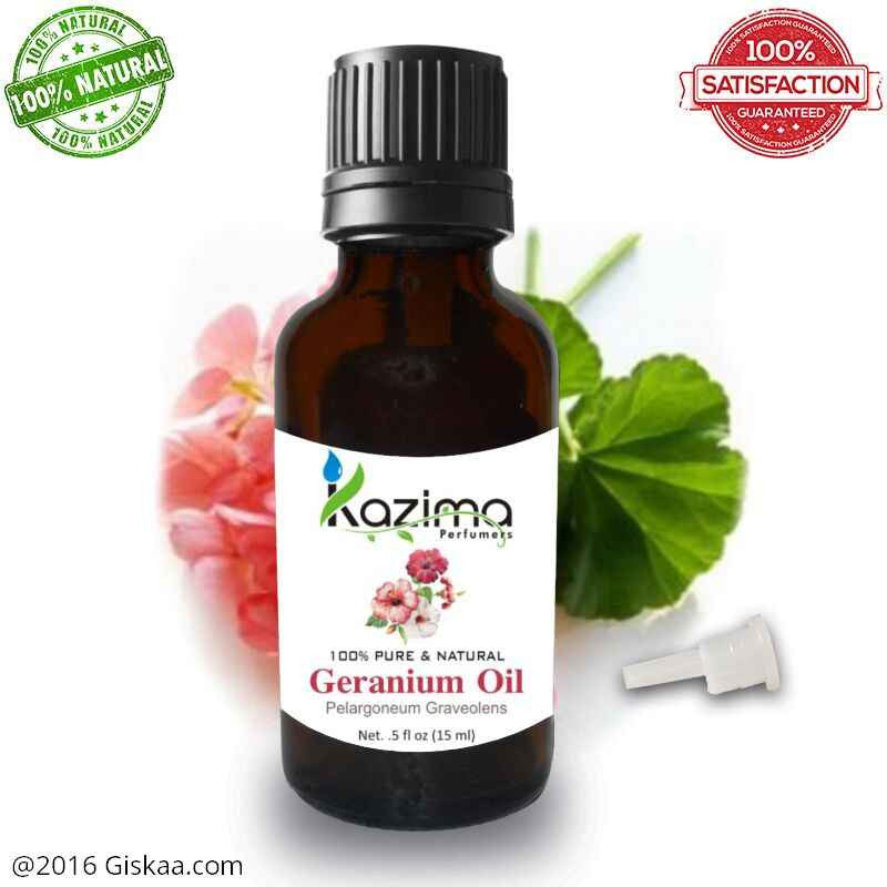 Kazima Geranium Essential Oil- 100% Pure Natural And Undiluted Oil- 15ml