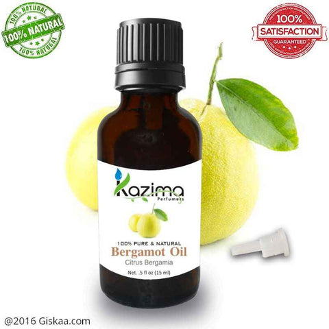 Kazima Bergamot Essential Oil- 100% Pure Natural And Undiluted Oil- 15ml