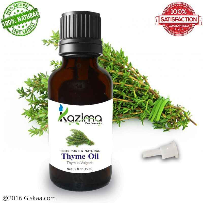 Kazima Thyme Essential Oil- 100% Pure Natural And Undiluted Oil- 15ml