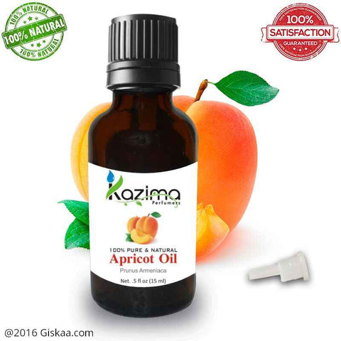Kazima Apricot Kernel Essential Oil- 100% Pure Natural And Undiluted Oil- 15ml