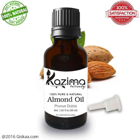 Kazima Almond Essential Oil- 100% Pure Natural And Undiluted Oil- 30ml