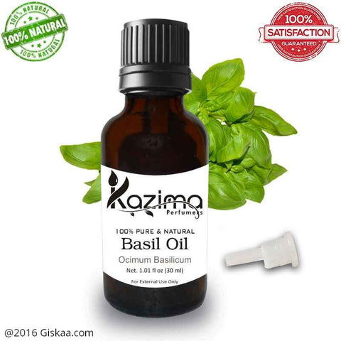 Kazima Basil Essential Oil- 100% Pure Natural And Undiluted Oil- 30ml