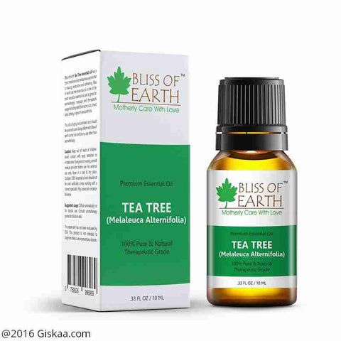 Bliss of Earth 100% Pure Premium Tea Tree Essential Oil - Melaleuca Alternifolia - 10ml