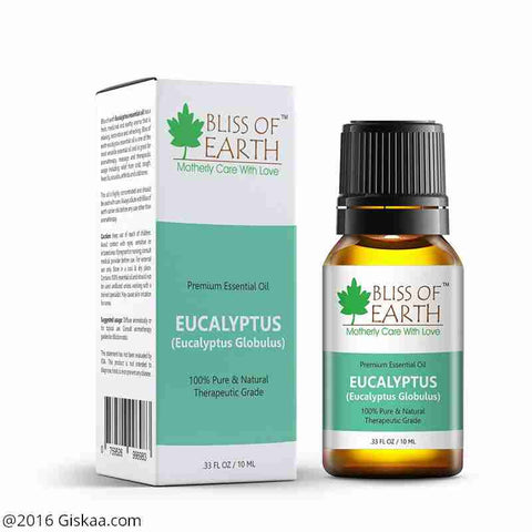 Bliss of Earth 100% Pure Premium Eucalyptus Essential Oil- Eucalyptus Globulus - 10ml