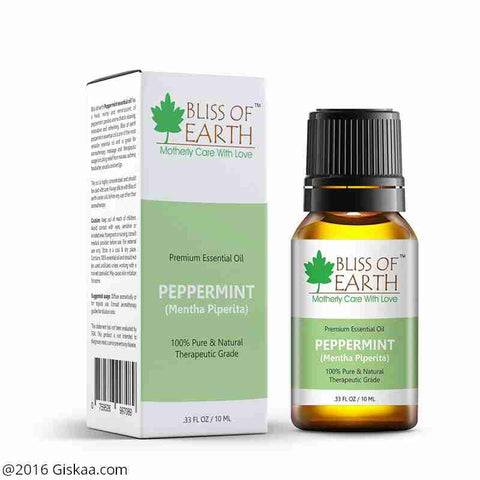 Bliss of Earth 100% Pure Premium Peppermint Essential Oil- Mentha Piperetta- 10ml