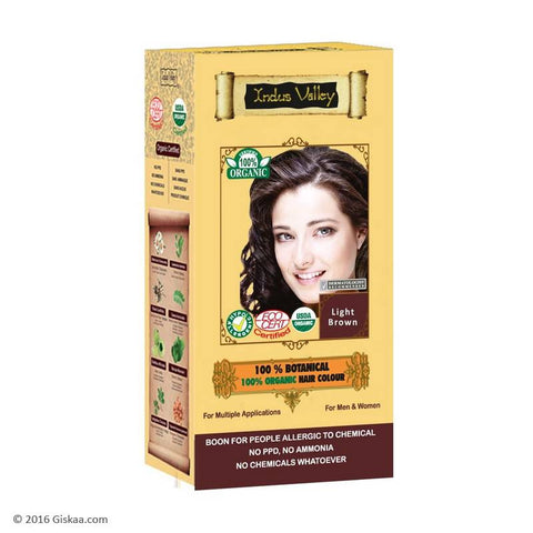 Indus Valley 100% Organic Light Brown Hair Colour