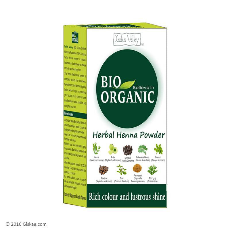 Indus Valley Bio Organic Herbal Henna Powder - 100 ml  (Pack of 2)