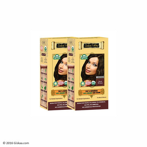 Indus Valley Botanical Dark Brown Hair Colour Set of 2