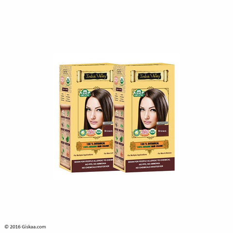 Indus Valley Botanical Brown Hair Colour Set of 2