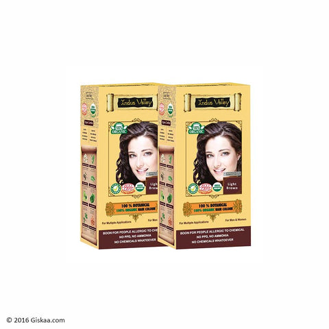 Indus Valley Botanical Light Brown Hair Colour Set of 2