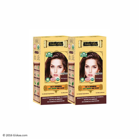 Indus Valley Botanical Mahogany Hair Colour Set of 2