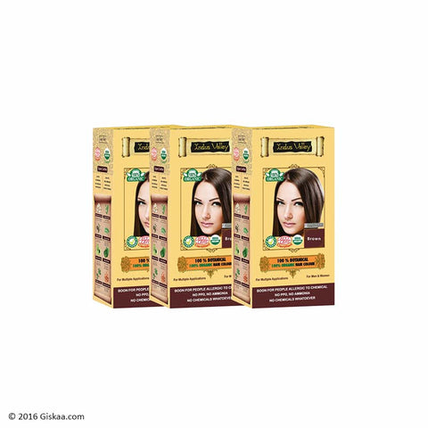 Indus Valley Botanical Brown Hair Colour Set of 3