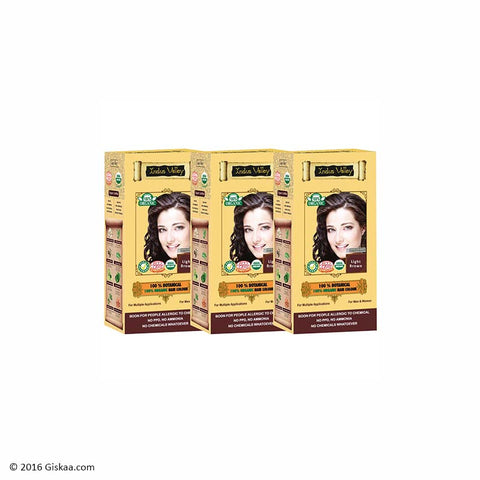 Indus Valley Botanical Light Brown Hair Colour Set of 3