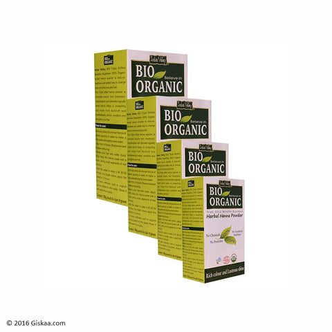Indus Valley Bio Organic Henna Powder Set of 4