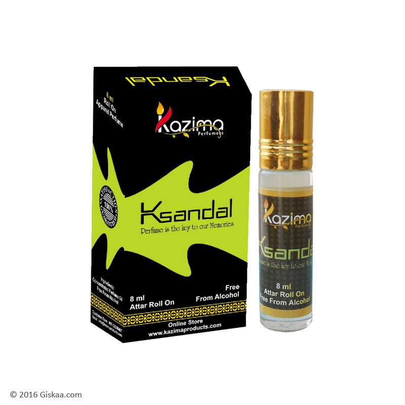 Kazima Sandal Apparel Concentrated Attar Perfume (8ml Rollon free From Alcohol)