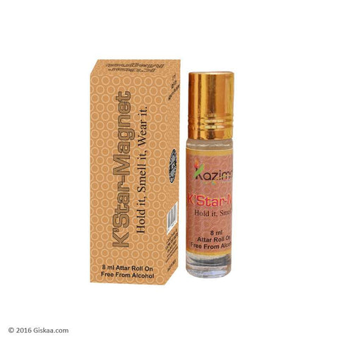 Kazima K'Star Magnet Apparel Concentrated Attar Perfume (8ml Rollon free From Alcohol)