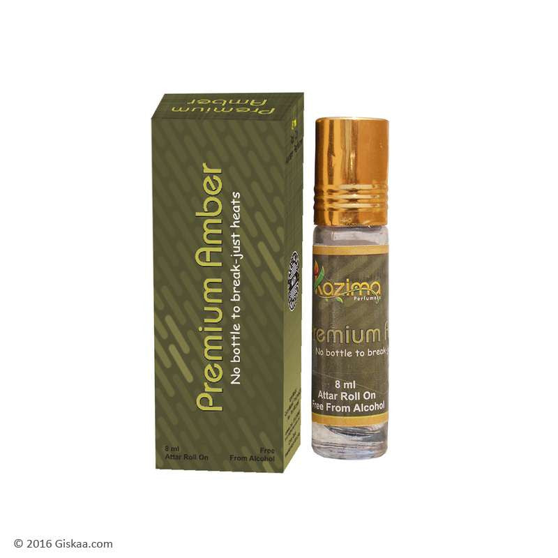 Kazima Premium Amber Apparel Concentrated Attar Perfume (8ml Rollon free From Alcohol)
