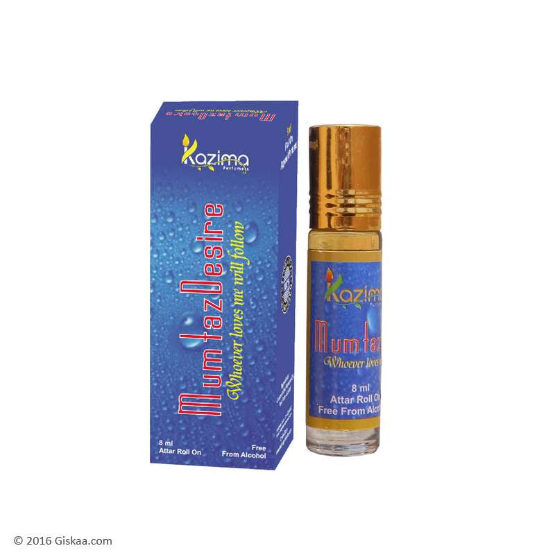 Kazima Mumtaz Desire Apparel Concentrated Attar Perfume (8ml Rollon free From Alcohol)